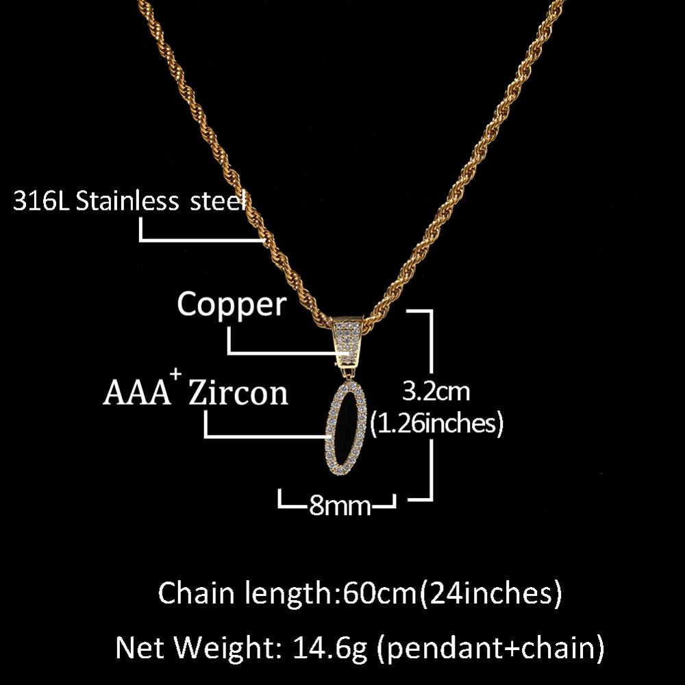 UWIN New Hiphop Custom Name Cursive Writing Initial Letters Pendant Necklace Words Full Iced Cubic Zirconia Jewelry Chain