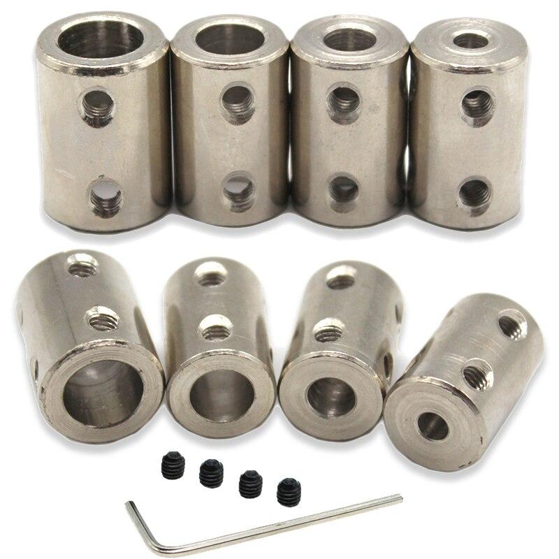 Acoplamiento de eje rígido de 3,17mm/4mm/5mm/6mm/8mm/10mm/12mm, acoplador de Motor, funda de conector de acero #45, 1 Uds.