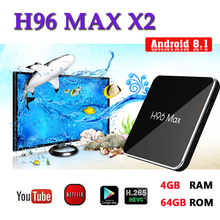 Smart console android tv box H96 MAX x2 H.265 2.4G & 5.8G Wifi 1080P Amlogic S905X2 4K 8.1 set top