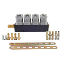 LPG/CNG/NGV Gas Fuel Injector Rail  lpg sequential fuel system for Sequential Injection Kit  2 or 3 ohm car injector simplest methane cng sequential injection conversion kits for 3 or 4 cylinders gasoline fuel injected vehicle
