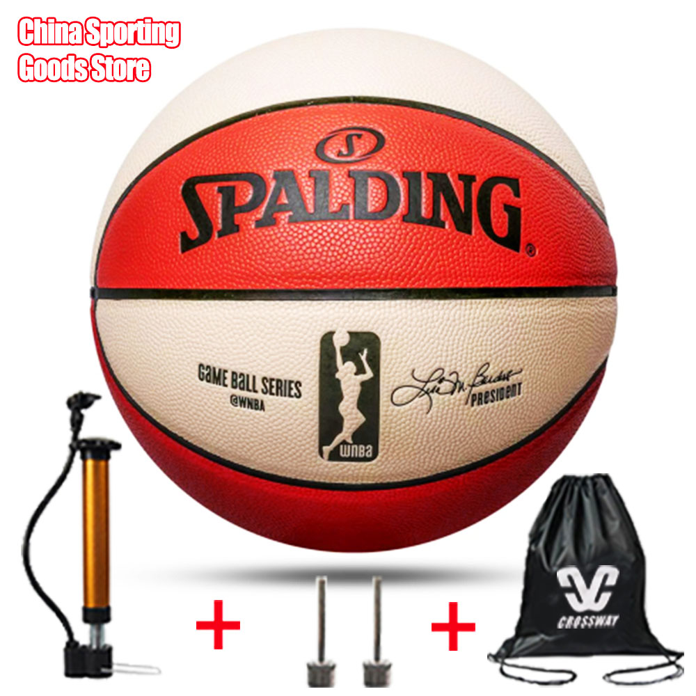 Women's Basketball Professional Ball, 74-572y Wear-resistant Soft Leather Basketball, Free Air Pump + Air Needle + Bag