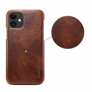 Image 2 - Luxury stylish retro oil wax leather mobile phone back shell Fhx 15K for iPhone 7 8Plus X XR XS MAX 11 11Pro MAX phone shell