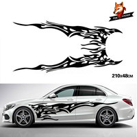 2pcs Whole Body Fire Flame Decor Vinyl Decals Auto Car Styling Accessories for Truck Car Stickers and Decals