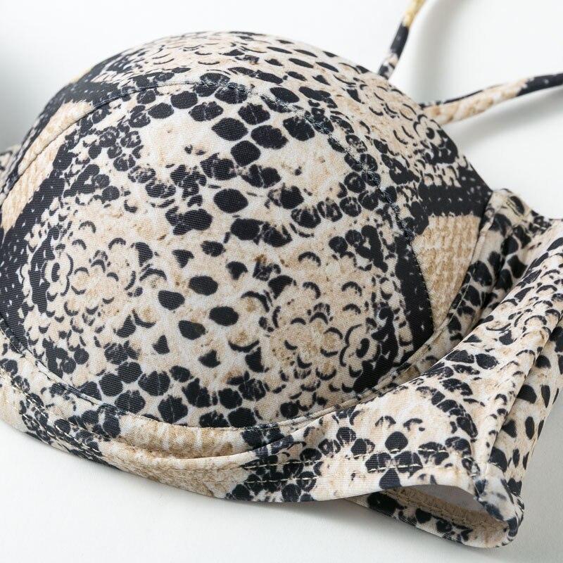 H9e170f5ee77045bba5250fcd3240e1adK Snake print bikini Push up swimsuit female bathing suit String thong Brazilian bikini 2019 High cut swimwear women Sexy biquini
