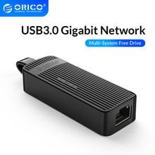 ORICO USB3.0 adaptateur de carte réseau Mini USB2.0 Gigabit Ethernet vers USB RJ45 Lan sans pilote pour Windows XP Xiaomi