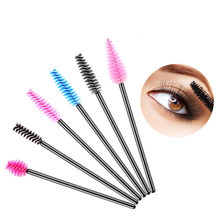 Wimpern Verlängerung Einweg Augenbraue pinsel Mascara Zauberstab Applikator Spooler Eye Lashes Cosmetic Pinsel Set make-up wimpern werkzeuge(China)