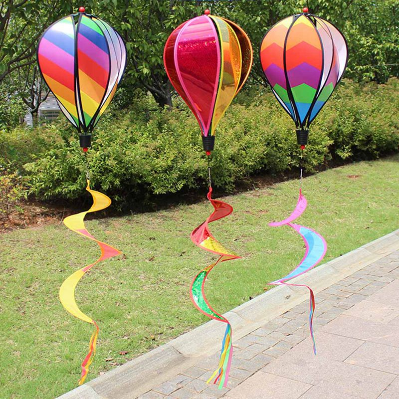 1pcs Windsock Colorful Hot Air Balloon Yard Garden Decorative Hanging Outdoor Wind Hanging Rainbow Windmill Decorative Stakes Wind Spinners Aliexpress