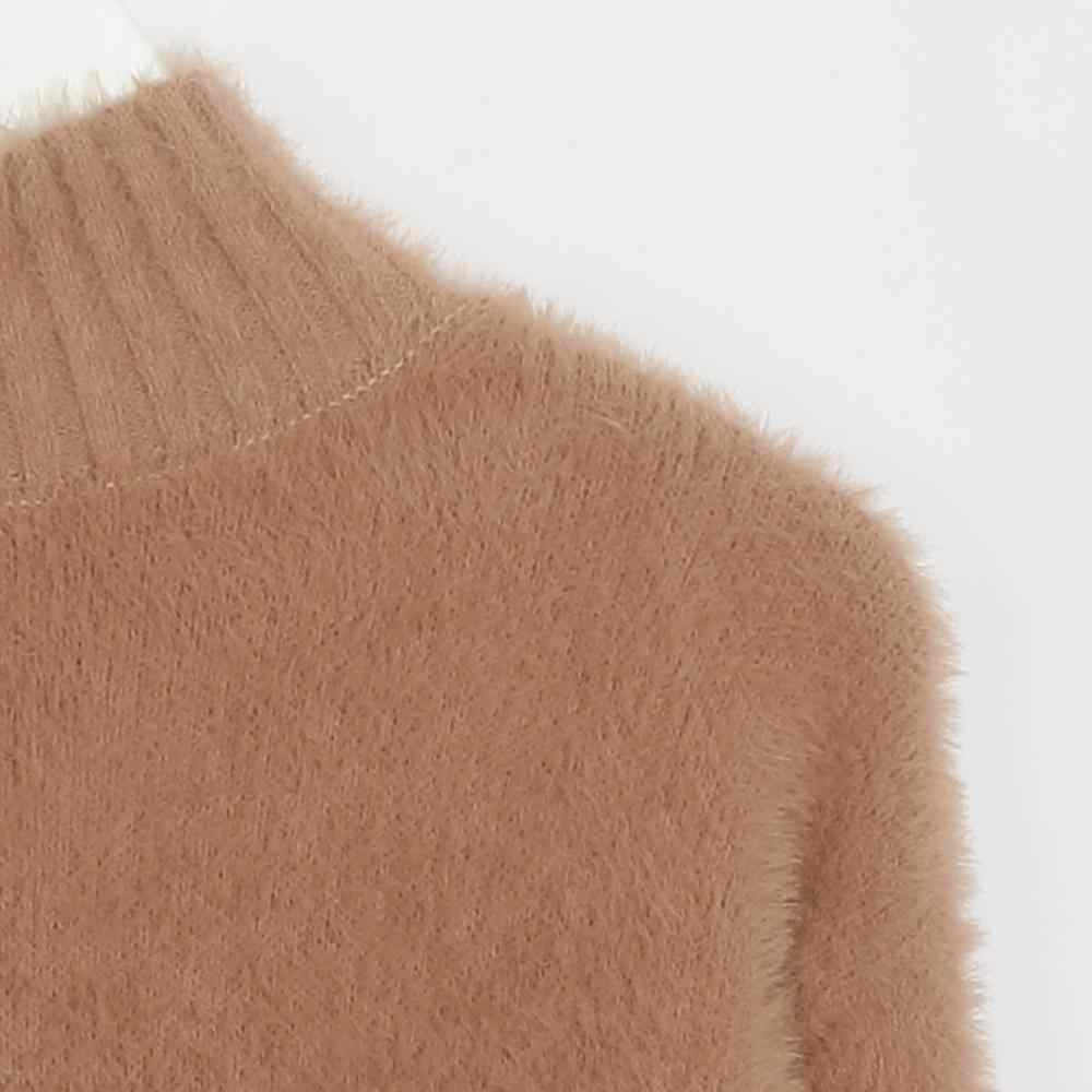 Wixra Women Casual Soft Mohair Sweaters And Pullovers Warm 2019 Autumn Winter Turtleneck Solid Knitted Sweater