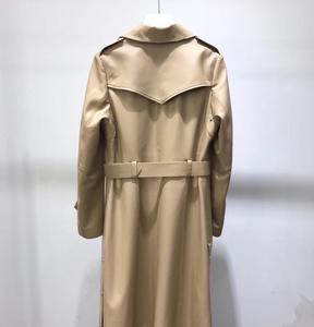 Image 2 - אמיתי עור מעיל נשים 2020 אביב אמיתי כבש טנץ מעיל נשי ארוך מעיל עם חגורה