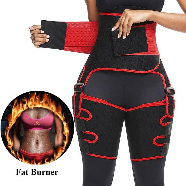 Waist And Thigh Trimmer Thermo Shaper Neoprene Waist And Thigh Trainer High Waist Corset Sweat Body Shapewear Women Fitness Belt