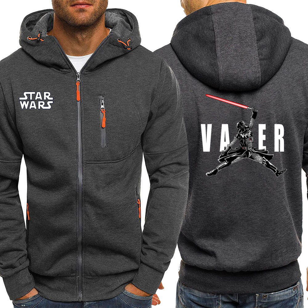 Darth Vader Star Wars 2019 Autumn Cartoon Hoodie Sweatshirts Men  Hoody Casual Jacket Zipper Sportswear Long Sleeve Fleece Coat