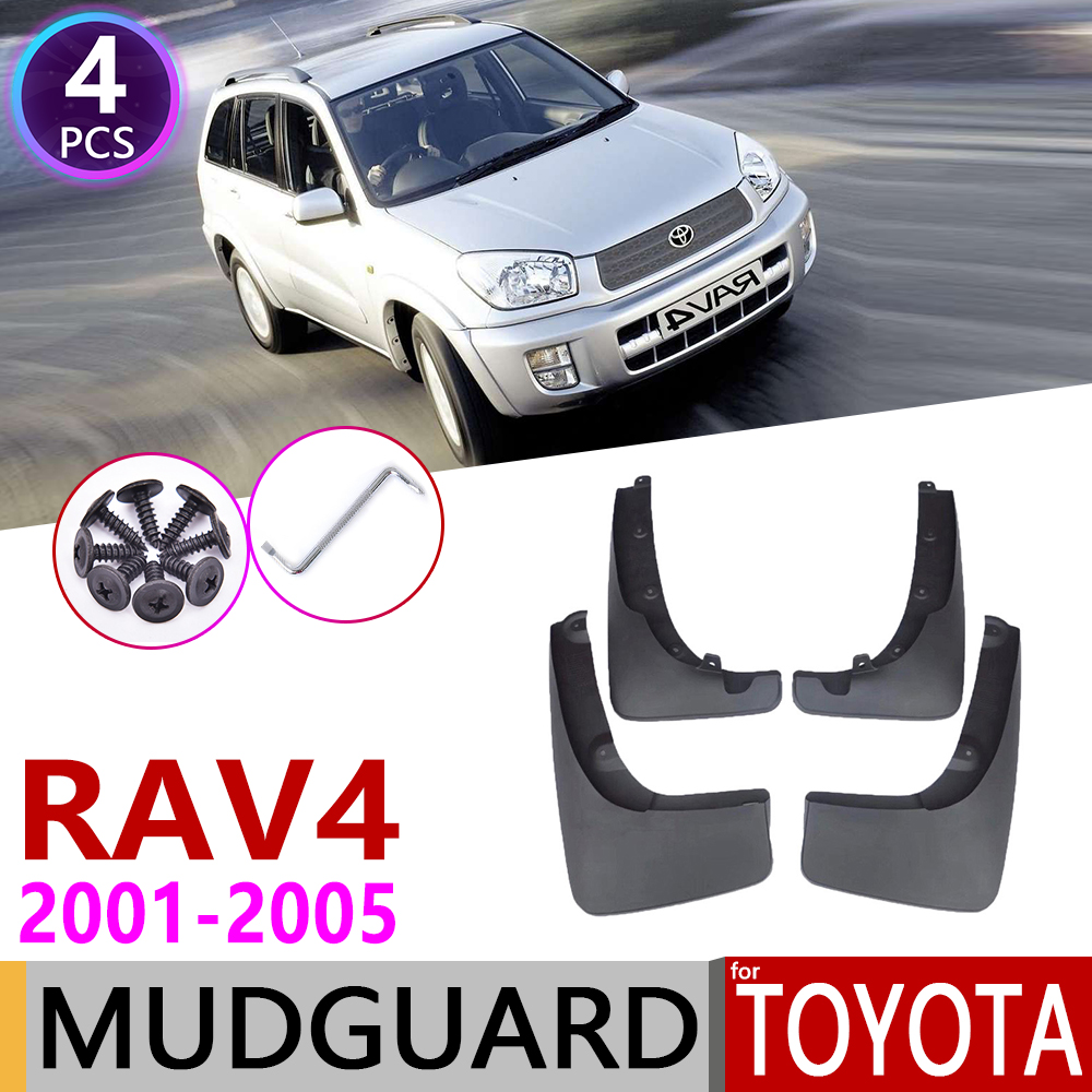 Car Mudflaps For Toyota RAV4 RAV 4 XA20 2001~2005 Fender Mud Guard Flap Splash Flaps Mudguard Accessories 2002 2003 2004 2nd Gen