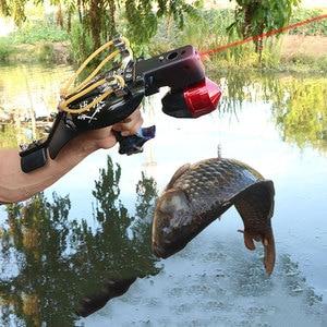 Image 5 - 1 セット多機能アーチェリー釣りパチンコレーザー視力撮影魚ダーツ魚ホイールカタパルトリストバンド狩猟アクセサリー