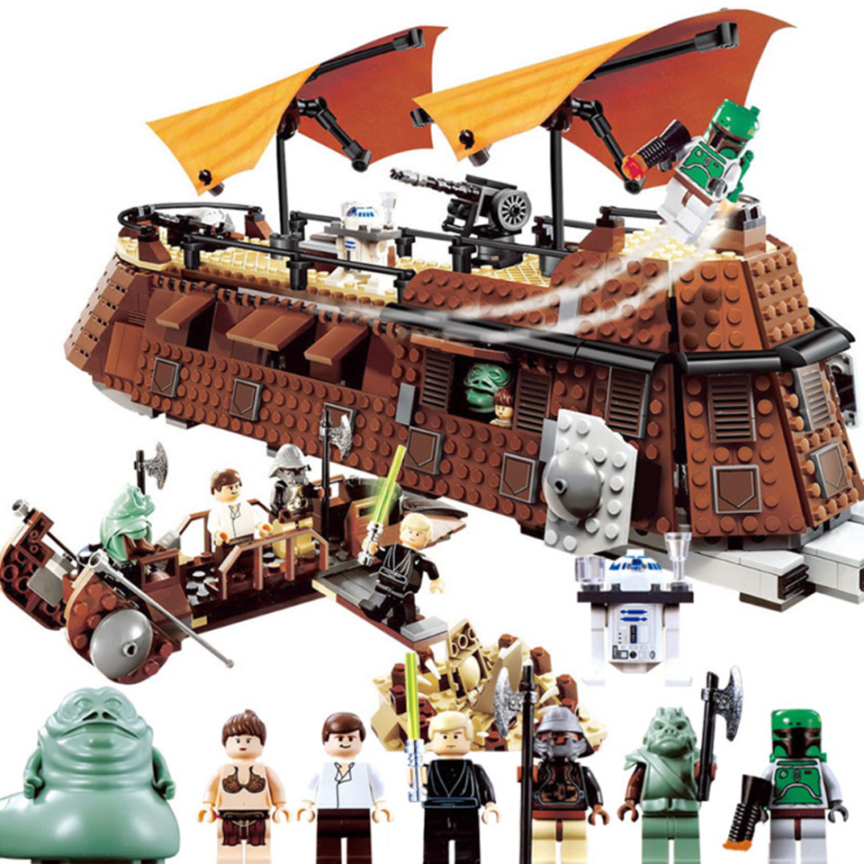 05090 Compatible Lepining Star Wars 6210 Jabba Sail Barge Model Building Blocks Bricks Boys Birthday Gift Starwars Toys