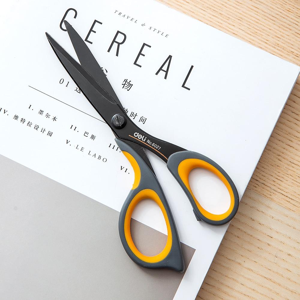 Clearance SaleDELI Scissors E6027 Teflon coated Soft-touch 175mm 6-4/5 inch home office scissor hand