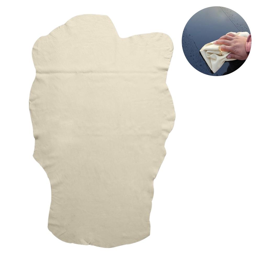 Super lavado de coches absorbente toallas de cuero de gamuza Natural paño de limpieza de coche hogar cocina muebles vidrio gamuza herramienta de limpieza Mantel de mesa decorativo GIANTEX mantel de algodón mantel redondo para comedor