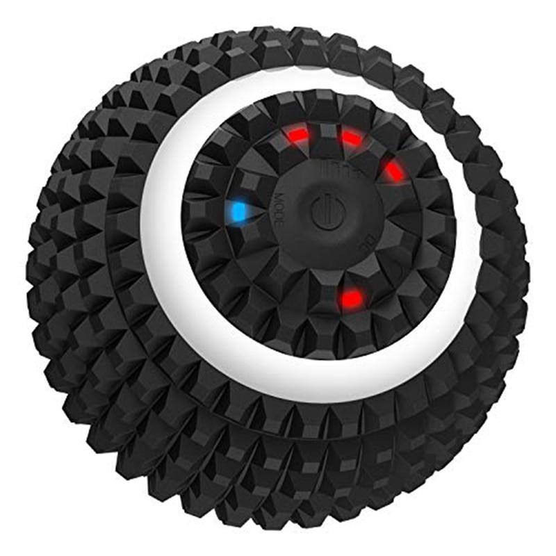 Электрический массажный мяч 4-Скорость Вибрационный Массажный мяч USB Перезаряжаемые массажный ролик из ЭВА Йога Фитнес Поролоновый валик