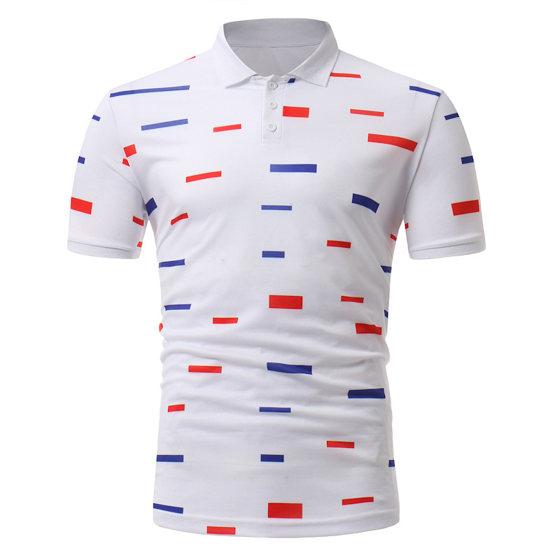 Wholesale 18 New Style Foreign Trade AliExpress EBay Men Casual Fashion Short-sleeved Polo Shirt Korean-style Men'S Wear