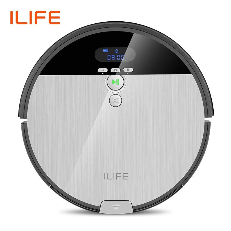 Robot aspirador ILIFE V8s, barrido y fregona húmeda, limpieza planificada, 0,75 l, cubo de basura, tanque de agua ajustable, horario del hogar