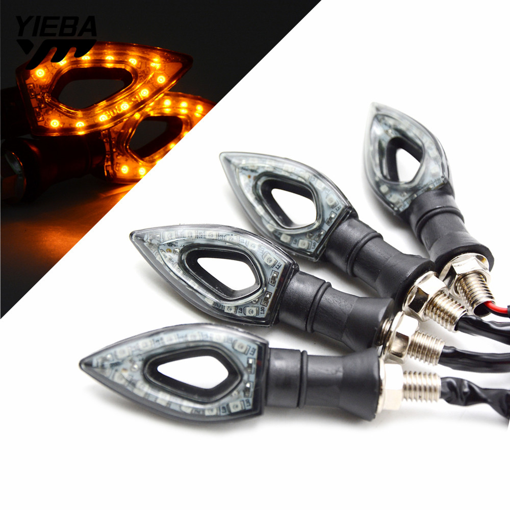 For <font><b>BMW</b></font> R1200RT R nine T <font><b>R1200R</b></font> G310R F800R K1200R 2pcs/1pair Universal 12V <font><b>LED</b></font> MotorcycleTurn Signal Indicators Light Lamp image