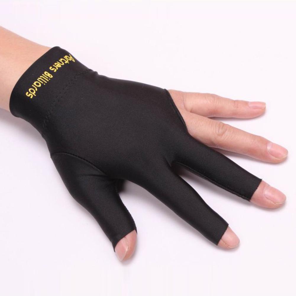 1 Piece Snooker Billiard Cue Glove Pool Left Hand Open Three Finger Fitness Accessories