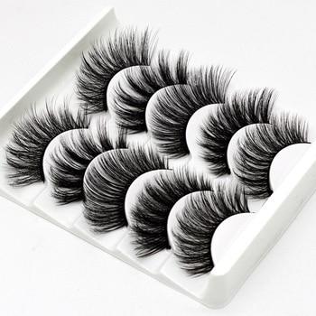 5Pairs 3D Faux Mink Hair False Eyelashes Natural/Thick Long Eye Lashes Wispy Makeup Beauty Extension Tools 1