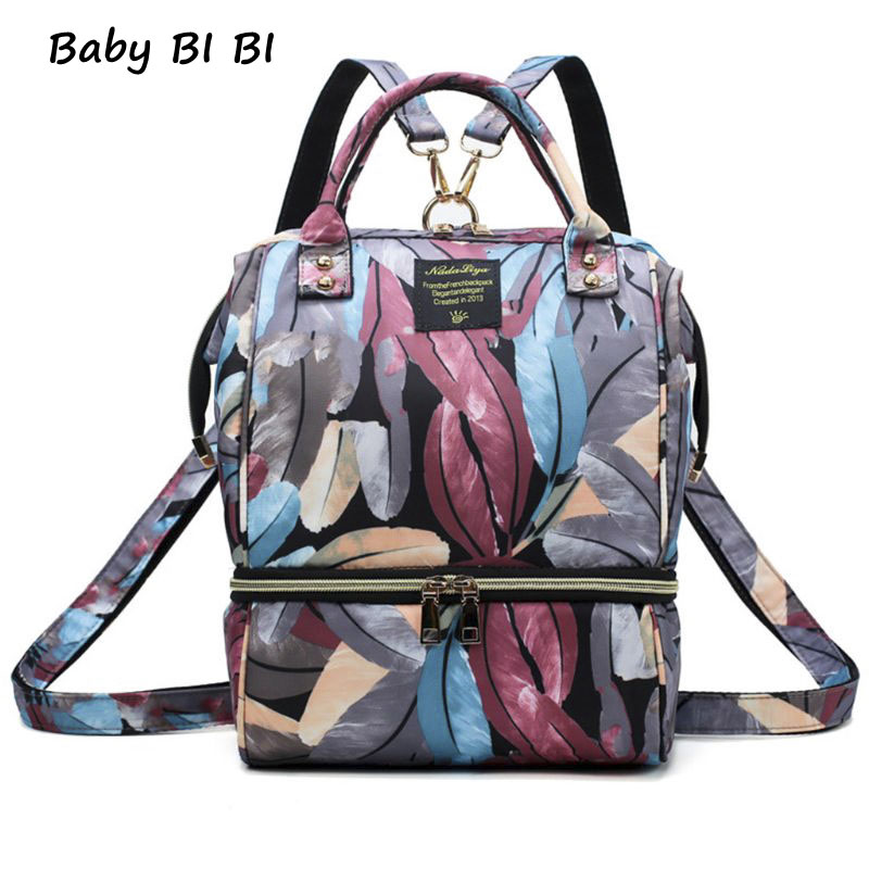 Fashion Mummy Bag Multi-function Large Capacity Maternal And Child Package Waterproof Diaper Bag