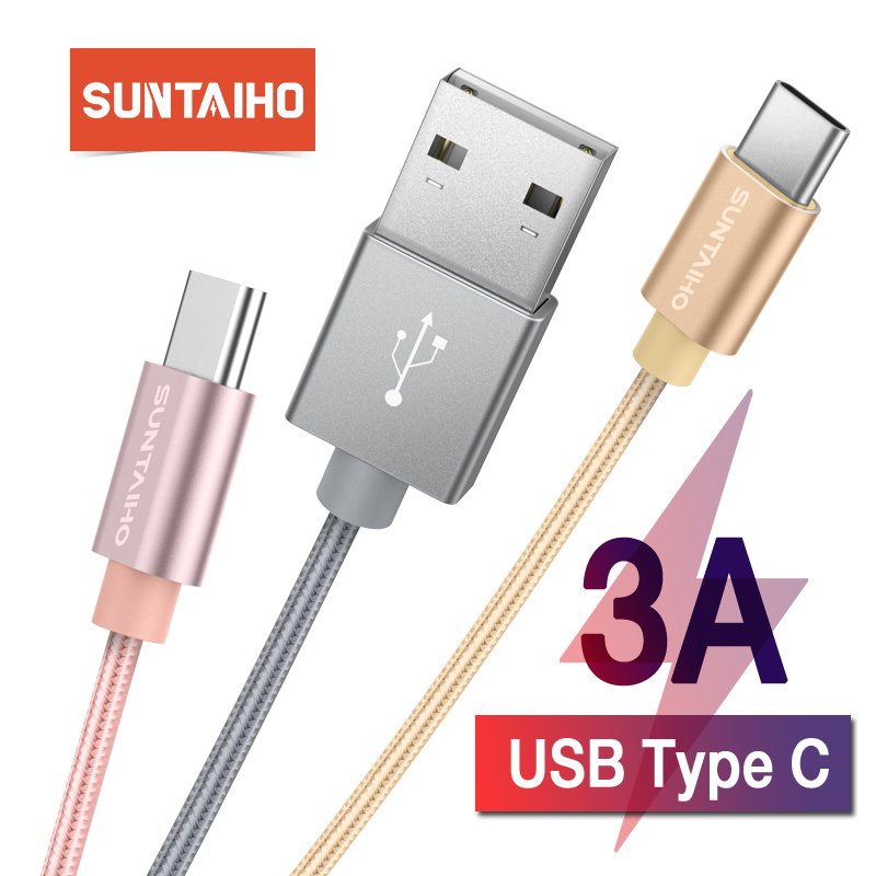 Suntaiho USB Type C Cable for Samsung S9 S10 USB C 3A Quick Charge 3.0 Type C Charging