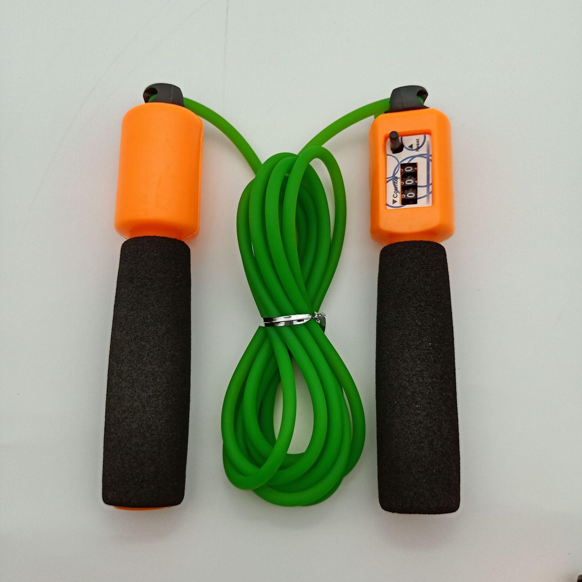 Liang Jian Manufacturers Direct Selling Sports Activity Jump Rope Sponge Plastic Big Screen Count Handle PVC Bag Fitness Jump Ro