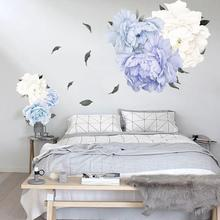 new Self Adhesive Wall Sticker Flower Peony Bedroom Living Room Mural Decal Decor Peony Flower Pattern Home Decoration Art Mural natural jade peony flower bonsai home furnishing jewelry ornaments creative living room wine gifts 5 peony