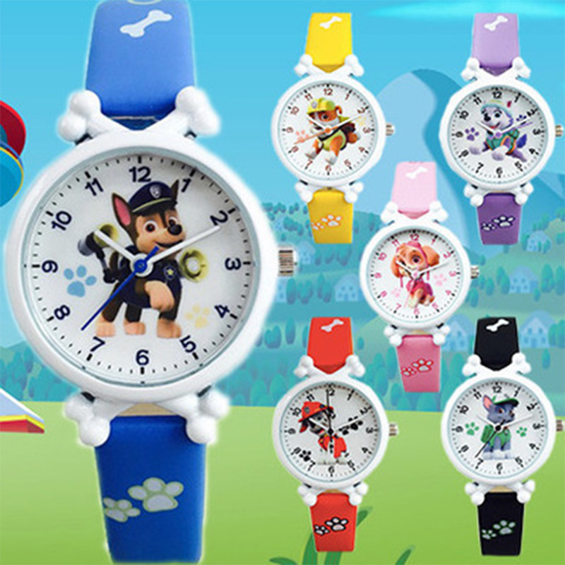 Paw Patrol Digital Watch Time Develop Intelligence Learn Dog Everest Action Anime Figure Patrulla Canina Toy Of Children Gift 7D
