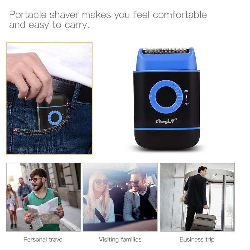 Portable Mini  Electric Shaver Razor for Men Travel Reciprocating Hair Removal Shaving Beard Trimmer Machine Face Care Tool 45 5