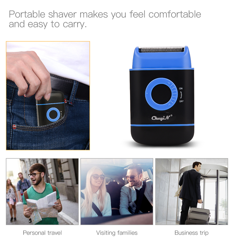 Portable Mini  Electric Shaver Razor for Men Travel Reciprocating Hair Removal Shaving Beard Trimmer Machine Face Care Tool 45