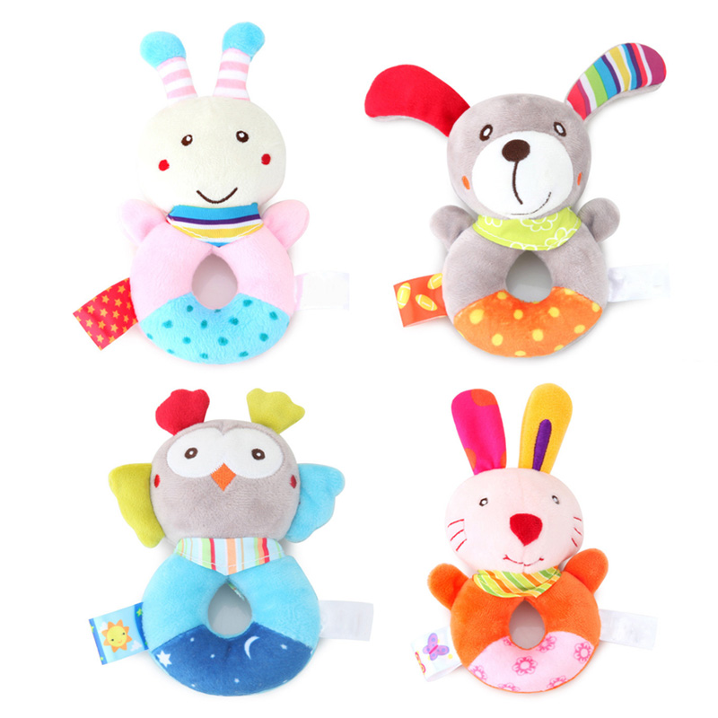 Newborn Baby Toys 0-12 Months Cartoon Animal Baby Plush Rattle Mobile Bell Toy Infant Toddler Early Educational Toys speelgoed 4