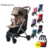 Yoya plus 4 bébé stoller poussette légère Yoya plus série chariot Portable bébé chariot 2 en 1 bébé voiture 5 cadeaux gratuits
