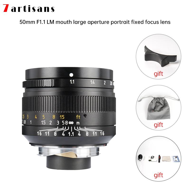 Lentes 7 Artisans 50 мм f1.1большая диафрагма Paraxial M-mount объектив для камер M-m M240 M3 M5 M6 M7 M8 M9 M9p M10 Бесплатная доставка