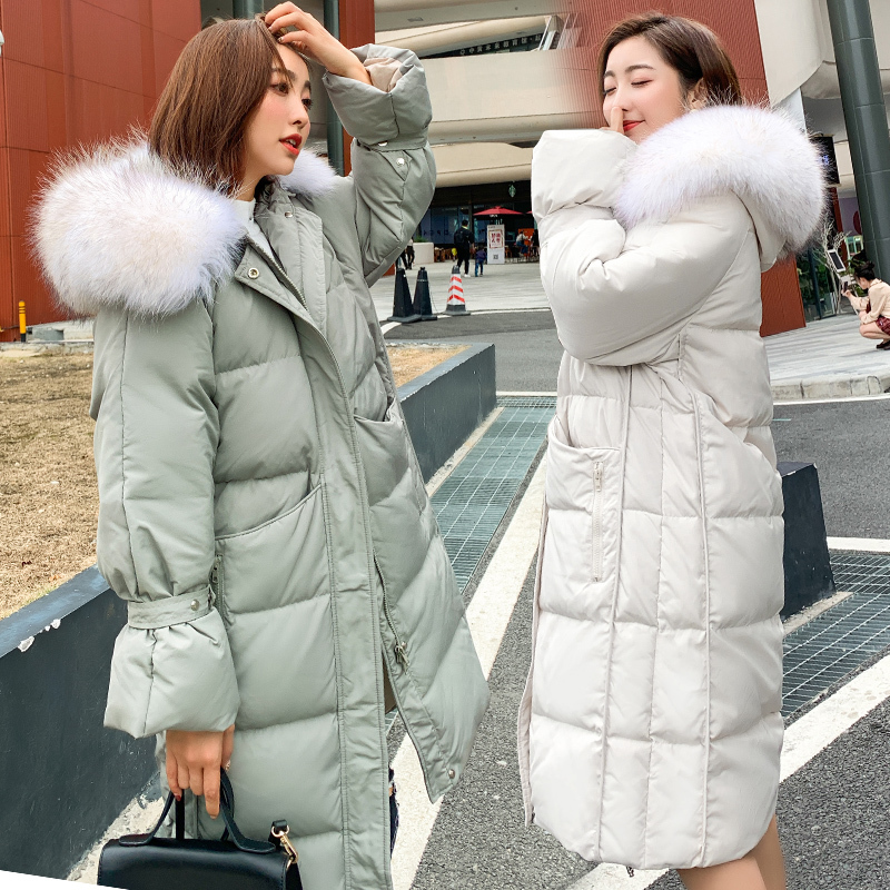 2019 Brand Winter White Duck Down Jacket Women Long Down Parka Thick Warm Down Coat Female Outwear Jackets Hiver LW1613