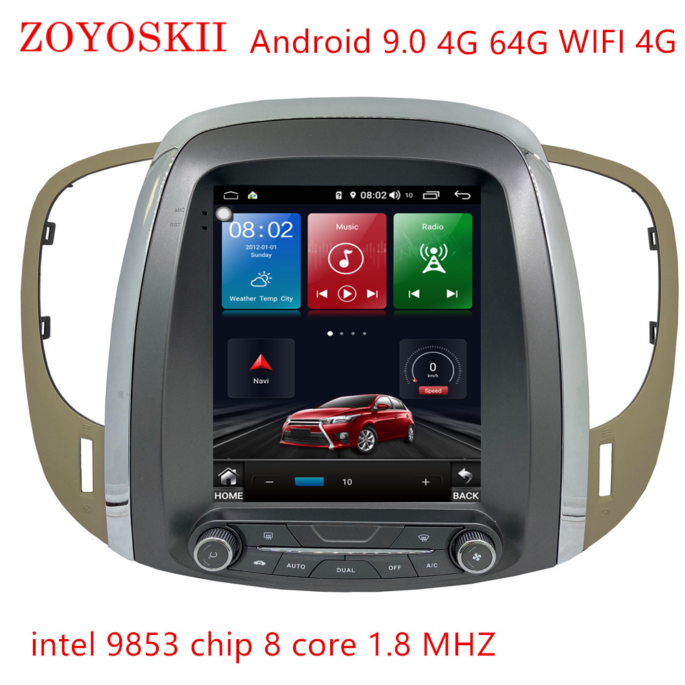 Car Android 9.0 10.0 Multimedia Radio Bluetooth Gps For Buick Lacrosse GM Alpheon 2009-2012 10.4 Inch Vertical Screen