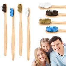 1pc Natural Bamboo Toothbrush Set Soft Bristle Charcoal Teeth Whitening Bamboo Toothbrushes Soft Oral Care Toothbrush