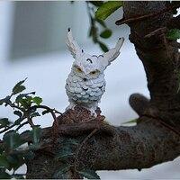 Landschap Uil Pop Hars Fairy Huis Tuin Diy Decor Micro Ornamenten Decoratie