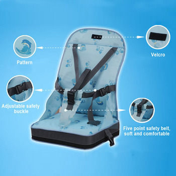 Infant Washable Foldable Oxford Cloth Home Dining Safety Belt Baby Chair Bag Travel Portable Seat Feeding Harness Lunch 1