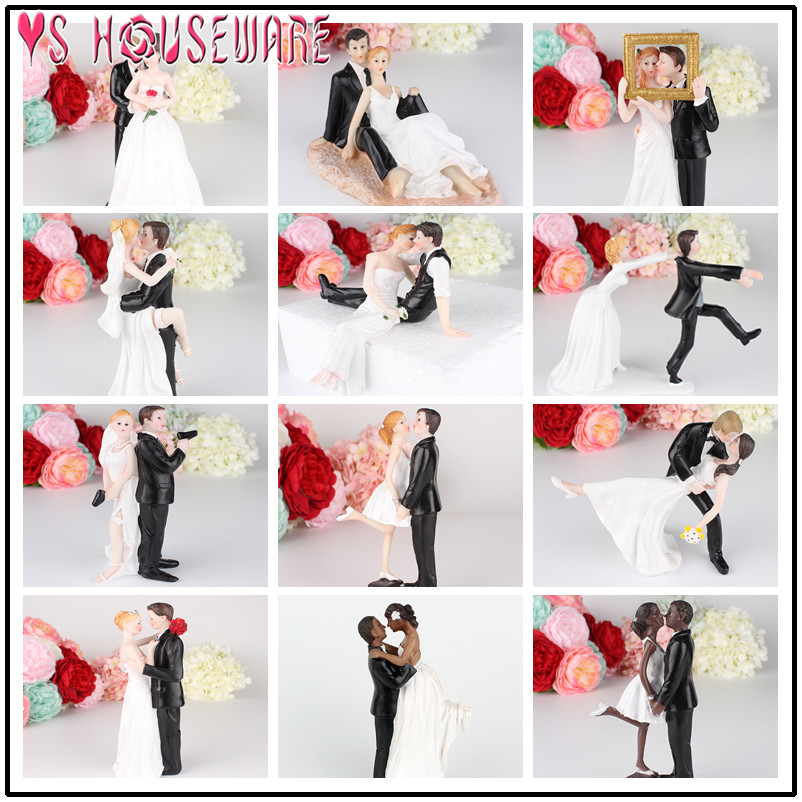 Tender Love Romantic Embrace African American Couple Resin Wedding Cake Topper