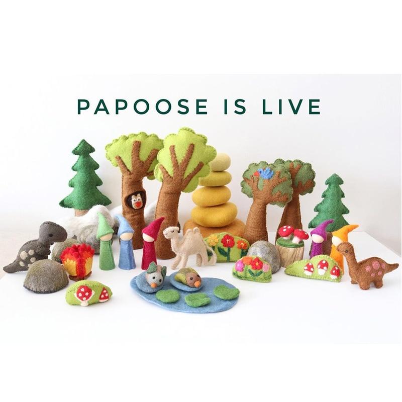 PlanToys Imported Handmade Wool Toy Rainbow Elf Angel Doll Forest Garden Scene Wool Toy Woods Garden Scene