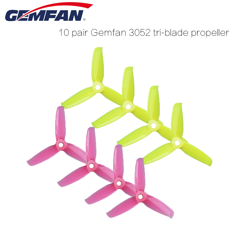 8 Pair Gemfan Flash 3inch <font><b>3052</b></font> 3.0x5.2 3 Bades Tri-blade Propeller for 1306-1806 Motor FPV Mini 130mm Quadcopter Frame Kit image