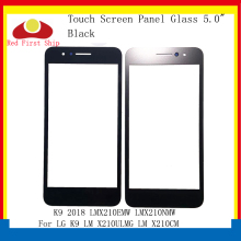 цены на 10Pcs/lot Touch Screen For LG K9 2018 LM X210ULMG LM X210CM LMX210EMW LMX210NMW Touch Panel Front Outer For LG K9 LCD Glass Lens
