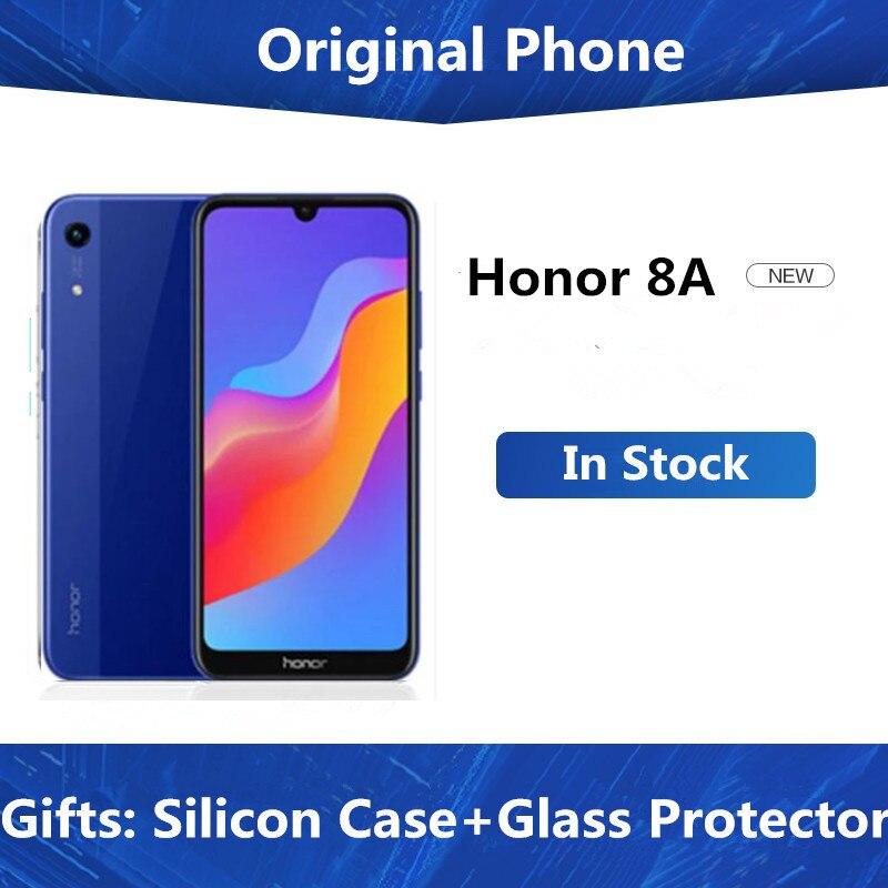 Оригинальный мобильный телефон Honor 8A, 4G LTE, MTK6765 восемь ядер, Android 9,0, IPS 6,09 дюйма, 1560X720, 3 ГБ ОЗУ 64 Гб ПЗУ, Face ID, 3 слота