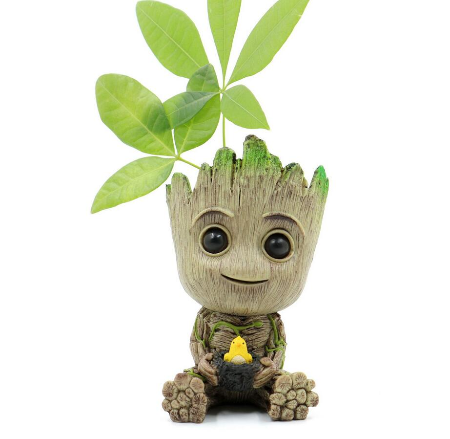 Baby Treeman Action Figure Baby Tree Man Grootted Flowerpot Decoration Model Cute Toys Drop Shipping