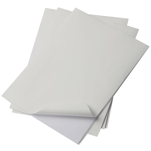 Image 2 - 50 ورقة طباعة ذات نوعية جيدة مقاومة للماء ذاتية اللصق A4 ورقة بيضاء بيضاء ملصق التسمية للطابعة بالليزر RJ0003