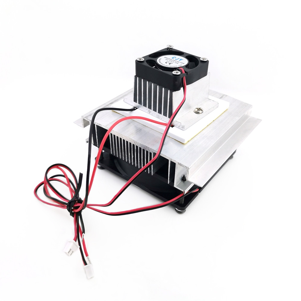 DIY Thermoelectric Refrigeration Cooling System Kit Semiconductor Cooler Conduction Module + Radiator + Cooling Fan+TEC-12706