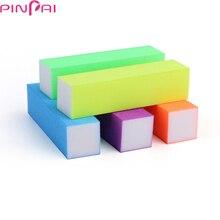 цена на 3pcs Pink Form Nail Buffers File For UV Gel White Nail File Buffer Block Polish Manicure Pedicure Sanding Nail Art Tool D084